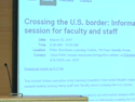 Thumbnail Image - Crossing the U.S border: Information Session for Faculty and Staff