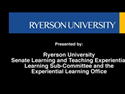 Thumbnail Image - Experiential Learning at Ryerson - (Full Version)