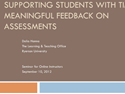 Thumbnail Image - The Importance of Timely and Meaningful Feedback