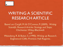 Thumbnail Image - Writing a Scientific Research Article