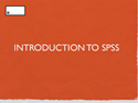 Thumbnail Image - Introduction to SPSS